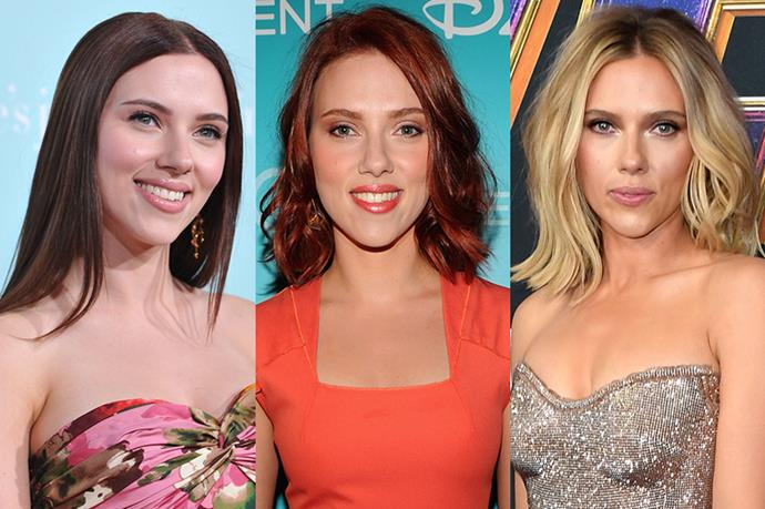 **Scarlett Johansson**<br><br>  We're not totally sure Scarlett Johansson isn't her spy character Black Widow with all these hair style changes.