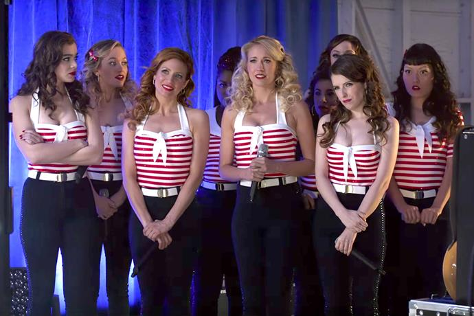 ***Pitch Perfect 3*** **(07/10/2019)**<br><br>  Following their win at the world championship, the now separated Bellas reunite for one last singing competition at an overseas USO tour, but face a group who uses both instruments and voices.