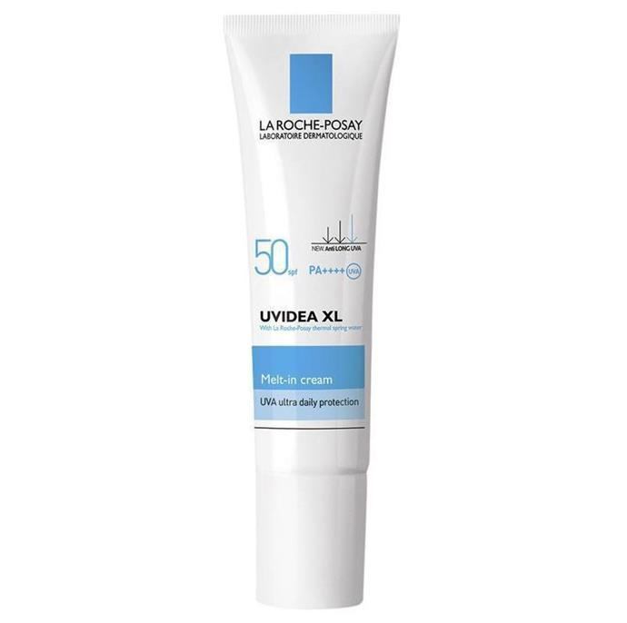 """**'Uvidea XL' Melt-In Cream SPF 50+ by La Roche-Posay** <br><br> La Roche-Posay's cult skincare products cater best to all skin types, and the brand's 'Uvidea XL' moisturiser is a perfect, non-bothering sunscreen option for both oily and dry skin. <br><br> *$22 for 30mL at [Chemist Warehouse](https://www.chemistwarehouse.com.au/buy/78853/la-roche-posay-uvidea-xl-melt-in-cream-160-spf-50-30ml?rcid=2377