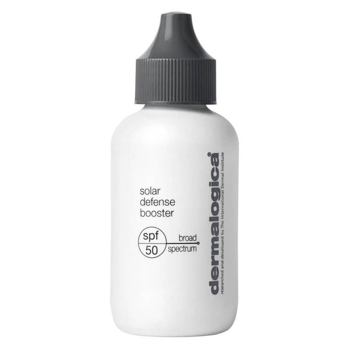 """**Solar Defense Booster SPF 50+ by Dermalogica** <br><br> Acting as the 'Dynamic Skin Recovery' product's younger sibling, Dermalogica's 'Solar Defense Booster' is a serum-style product designed to be mixed in with your daily foundation or concealer. <br><br> *$76.50 for 50mL at [MECCA](https://www.mecca.com.au/dermalogica/solar-defense-booster-spf-50/I-027530.html#q=SPF%2B50%2B&start=1
