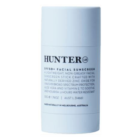 "**Facial Sunscreen SPF 50+ by Hunter Lab** <br><br> If you have oilier skin, and would prefer something more durable than a run-of-the-mill liquid sunscreen, this is the product for you. Hunter Lab's facial sunscreen stick prides itself on being non-greasy, and can easily withstand a longer amount of time in the sun. <br><br> *$48 for 50g at [HunterLab](https://hunterlab.com.au/product/spf50-facial-sunscreen/|target=""_blank""