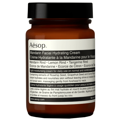 "**Mandarin Facial Hydrating Cream by Aesop, $80 from [Adore Beauty](https://www.adorebeauty.com.au/aesop/aesop-mandarin-facial-hydrating-cream-120ml-jar.html|target=""_blank""