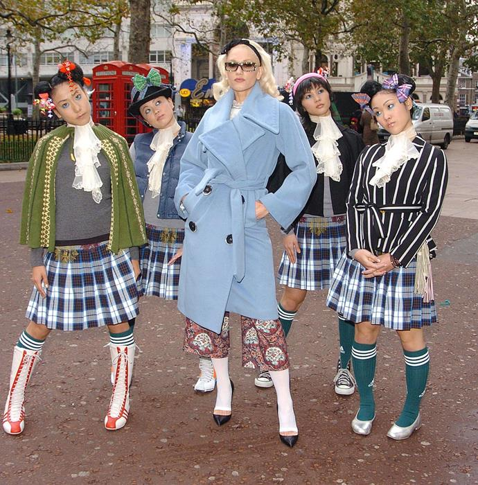 "**Gwen Stefani's 'Harajuku Girls'** <br><br> There are many reasons to appreciate Gwen Stefani ('Cool' is *still* one of the best songs of all time, FYI), but her potentially appropriative antics in the mid-2000s are definitely not one of them. <br><br> While promoting her 2005 album *Love. Angel. Music. Baby.*, Stefani was often shadowed by a group of four backup dancers of Japanese descent, nicknamed the 'Harajuku Girls'. While few people thought anything of it at the time, Stefani has since been criticised for using the 'Harajuku Girls' as an appropriation of Japanese culture—especially when rumours emerged that Stefani had contracted the four women to only speak Japanese in public, per *[TIME](https://time.com/3524847/gwen-stefani-racist-harajuku-girls/|target=""_blank""
