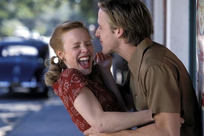 ***The Notebook*** <br><br> Yes, *The Notebook* has a wholesome ending, but the premise of the film is confusing to say the least. <br><br> In case you need a refresher, Noah (Ryan Gosling) persuades Allie (Rachel McAdams) to date him by, well, pretty much stalking her. When they temporarily part ways in the middle of the movie, Noah writes Allie hundreds of letters, which is definitely stalker-like behaviour. <br><br> Though Noah and Allie end up together in the end, and Noah's actions never amount to anything ominous, *The Notebook* is one of many movies that accidentally normalise stalking, or at least, persistent hassling of a woman by a man until he gets what he wants. Regardless of everything we just said, it's still one of the greatest love stories of all time. Don't @ us. <br><br> *Image: IMDb*