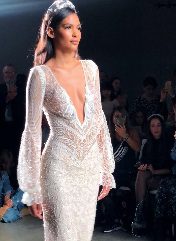 Plunging necklines and sparkle at Inbal Dror.