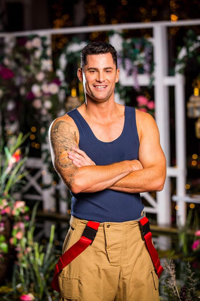 """***Jamie***<br><br>  **Age:** 39<br> **Occupation:** Firefighter<br><br>  Some [fun facts](https://www.nowtolove.com.au/reality-tv/the-bachelorette-australia/bachelorette-who-is-jamie-doran-59599