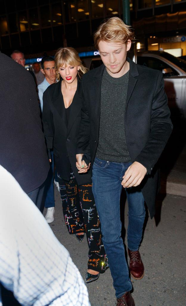 Taylor Swift and Joe Alwyn in New York City on October 6, 2019.