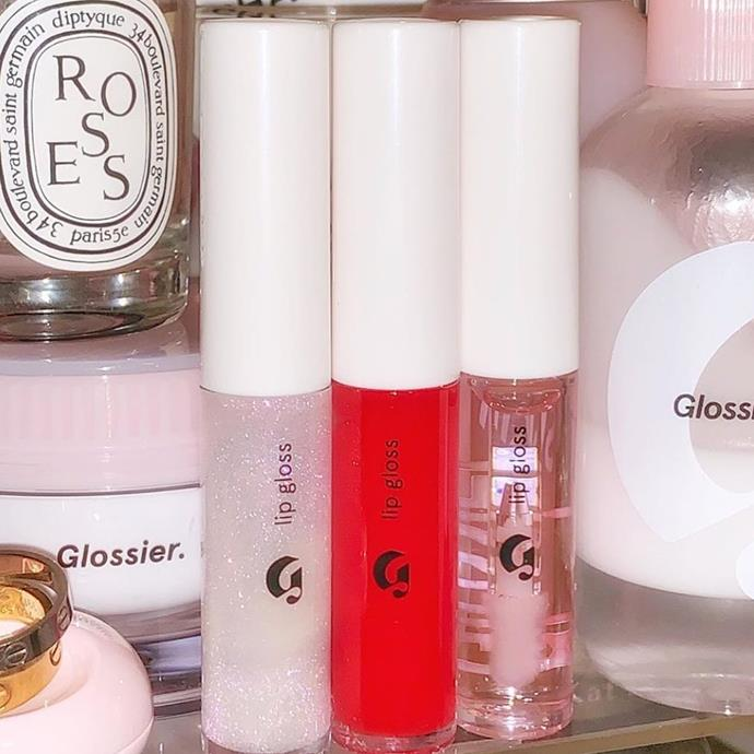 **If you want to try:** Glossier Lip Gloss