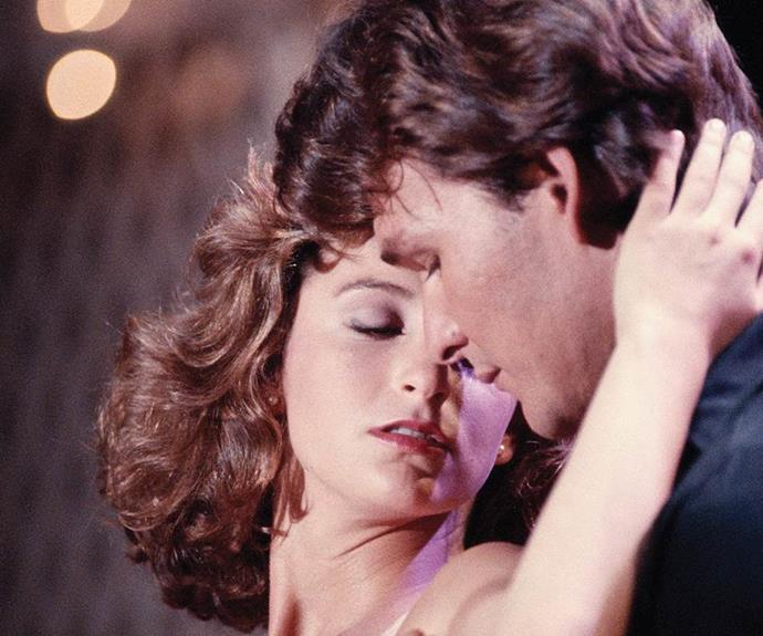 "***Dirty Dancing:*** Spending the summer at a Catskills resort with her family, Frances ""Baby"" Houseman falls in love with the camp's dance instructor, Johnny Castle."