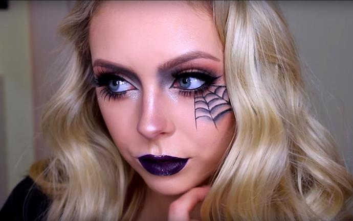 "**Spooky Spiderweb**<br><br>  Perfect for that Halloween party you'll probably decide to go to last minute, classic spiderweb makeup is one look that never gets old. Bookmark this [quick and easy tutorial](https://www.youtube.com/watch?v=0_MO7BYbeVM|target=""_blank""