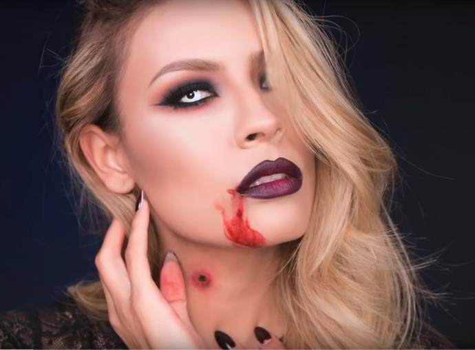"**Vampire**<br><br>  When it comes to traditional-but-easy Halloween makeup, it doesn't get much better than an old-school Vampire. One trick for elevating the makeup? Trying some coloured [Halloween contact lenses](https://www.opsm.com.au/contact-lenses/coloured/crazy|target=""_blank""). For an easy tutorial to follow, head over [here](https://www.youtube.com/watch?v=CkXbOOtYmag