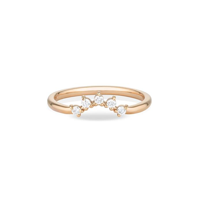 "Diamond and rose-gold ring, $1,700 by [Louise Jean](https://louisejean.com/products/spray-diamond-crown-ring|target=""_blank""