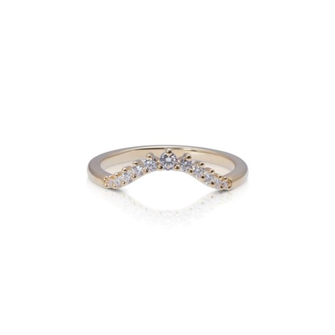 "Diamond and yellow-gold ring, $2,289 by [Baby Anything](https://babyanything.com.au/product/crown-diamond-ring/#|target=""_blank""