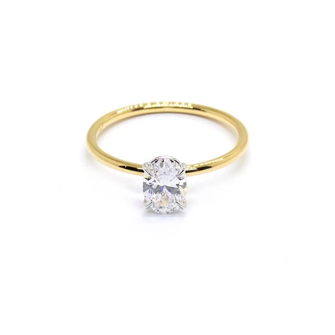 "Oval-cut diamond and yellow-gold ring, $6,350 by [Natalie Marie Jewellery](https://www.nataliemariejewellery.com/collections/engagement-rings/products/oval-signature-solitaire-0-60ct-diamond?variant=20437302607970|target=""_blank""