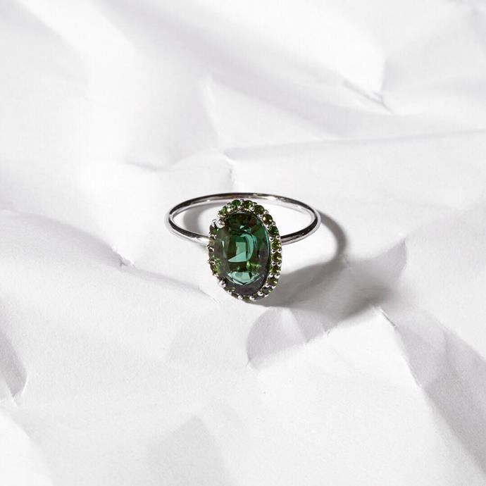 "***Tourmaline***<Br><Br> Coming in greens, reds and pinks, Tourmalines are a versatile and beautiful stone that will be gaining popularity in 2020. <Br><br> ""Tourmalines are also quite popular as they are found in an array of colours leaving the customer spoilt for choice,"" Ely told *ELLE.*<br><Br> Image via [@sarahandsebastianjewellery](https://www.instagram.com/p/BuLQF5PA56h/