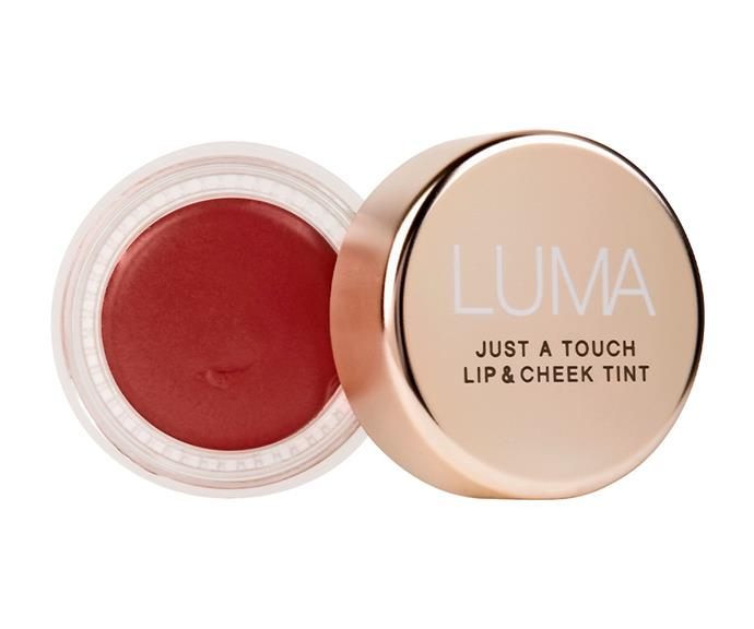 "**Just A Touch Lip And Cheek Tint by Luma, $29.95 at [Priceline](https://www.priceline.com.au/brand/luma/luma-just-a-touch-lip-and-cheek-tint-6-g|target=""_blank""