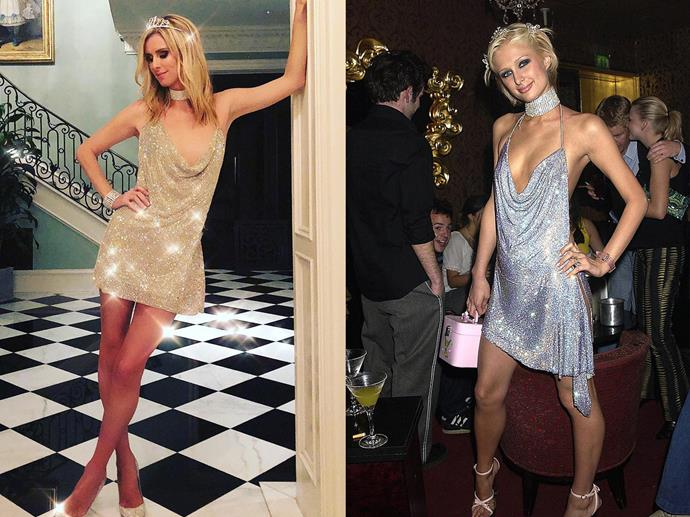 Nicky Hilton as Paris Hilton in 2018.<br><br>  *Image via @nickyhilton*