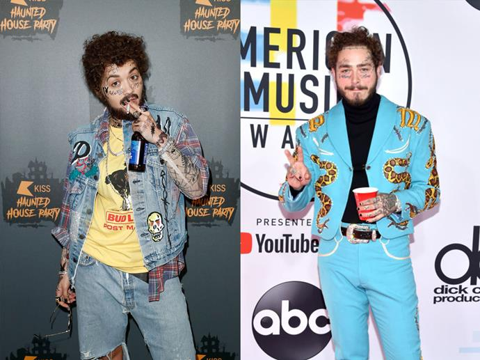 Rita Ora as Post Malone in 2018.