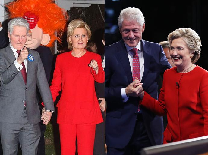 Katy Perry and her friend Michael-Kives as Hillary and Bill Clinton in 2016.