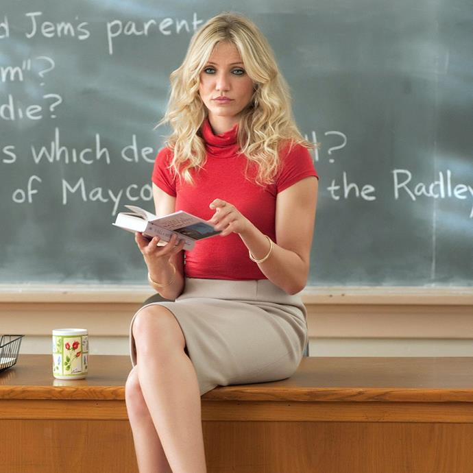 ***Bad Teacher*** <br><br> Cameron Diaz stars as possibly the worst teacher in existence—the rude, perennially drunk or hungover Elizabeth who can't wait to marry rich so she can quit her job. But when Scott (Justin Timberlake), a kind, talented and wealthy substitute teacher, enters the picture, Elizabeth must give it her all to win him over in the face of stiff competition.