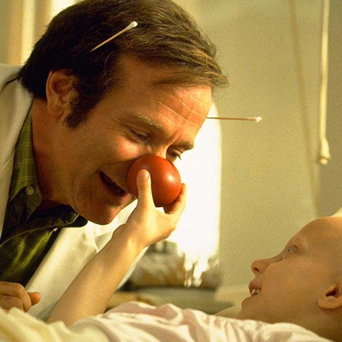 """***Patch Adams*** <br><br> This '90s classic is a heartwarming comedy starring Robin Williams as Dr. Hunter """"Patch"""" Adams, a real-life doctor who used unconventional methods to open his own medical clinic after becoming disillusioned by the medical industry's approach. Funny, but also a major tearjerker."""