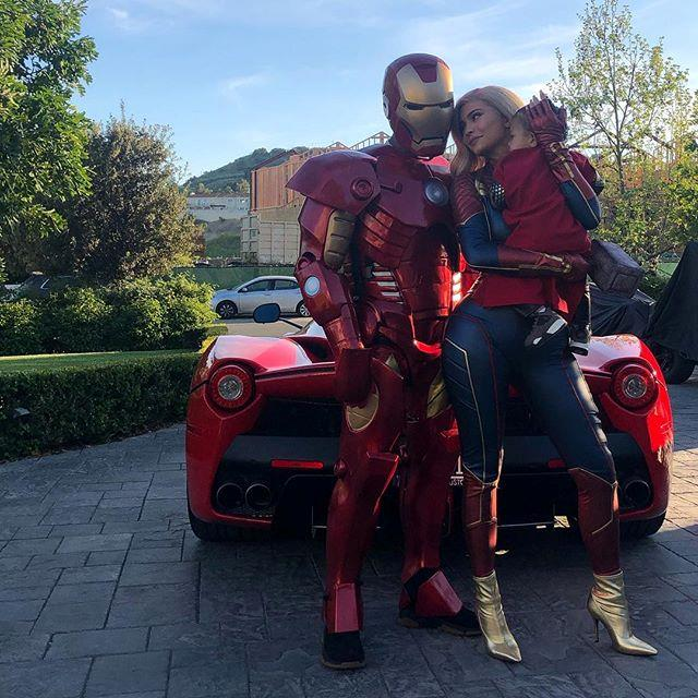 **7. Kylie Jenner and Travis Scott as Captain Marvel and Iron Man** <br><br> For Travis Scott's birthday, Kylie Jenner and her then-boyfriend went as two of the MCU's most major superheroes, in a moment that possibly even eclipsed Jenner's iconic 'Dirrty' outfit from 2016. If you're attending a Halloween party with your significant other, this is definitely a moment to channel—even if the couple's spot-on outfit replicas aren't exactly in your price range (same).