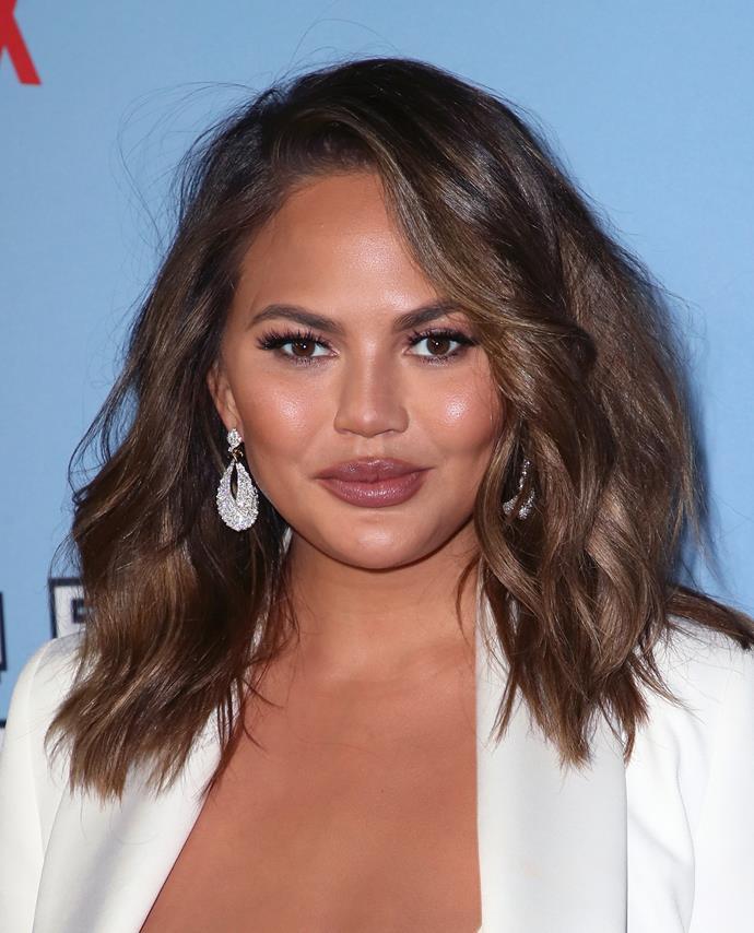 Back to her natural brunette hair in September 2019.