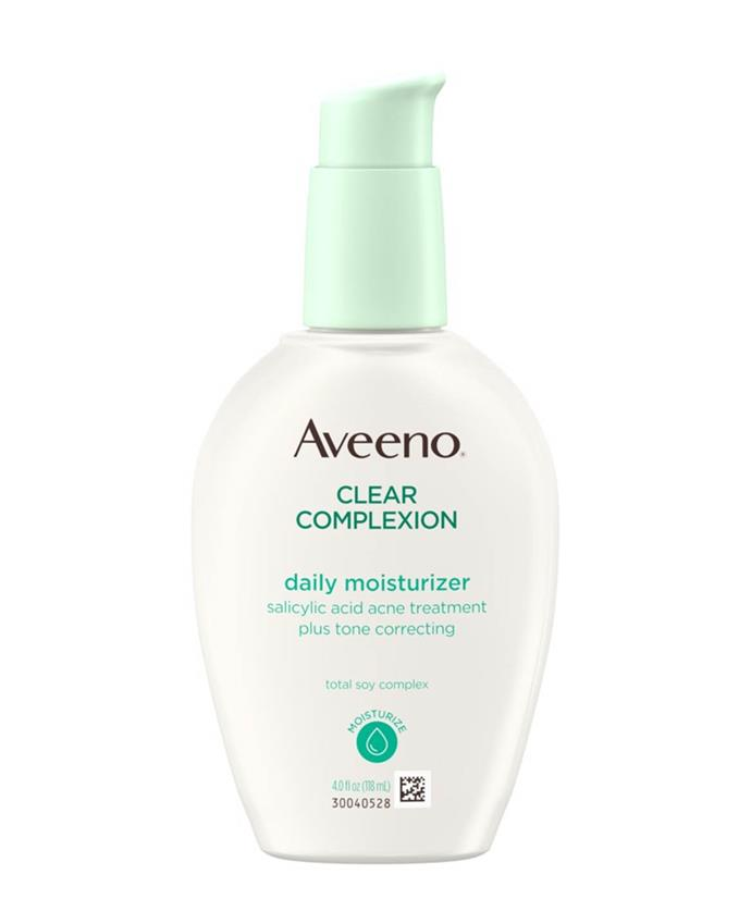 "**Clear Complexion Daily Moisturiser by Aveeno, $27.50 to $52.25 on [iHerb](https://au.iherb.com/pr/aveeno-active-naturals-clear-complexion-daily-moisturizer-4-fl-oz-120-ml/47947|target=""_blank""