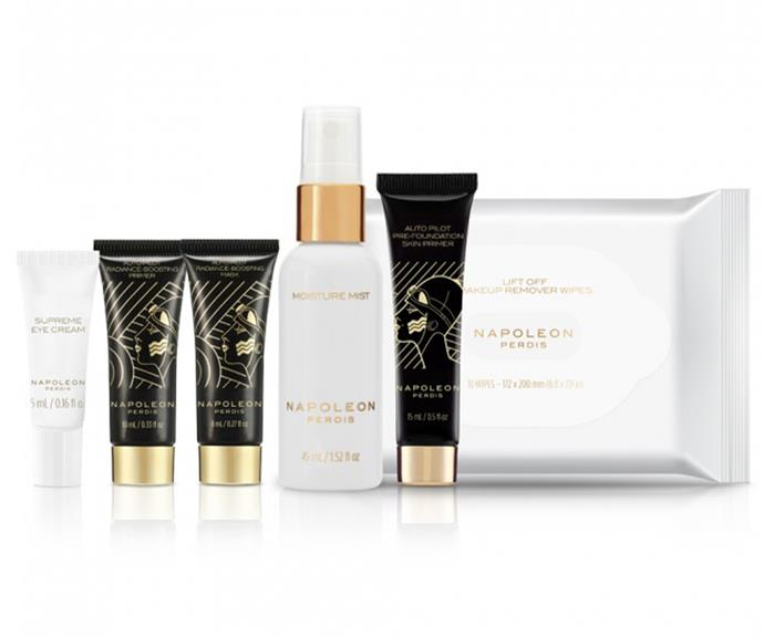 "**Travel in Deluxe Style by Napoleon Perdis, $39 at [Priceline](https://www.priceline.com.au/skincare/skincare-gift-sets/napoleon-perdis-travel-in-deluxe-style-7-piece|target=""_blank""