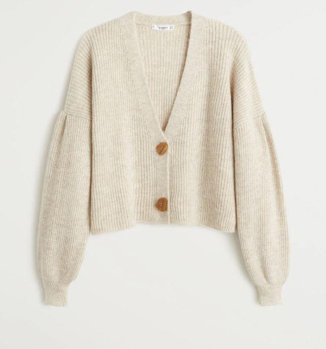 "Chunky knit cardigan by MNG, $79.95 at [MNG](https://shop.mango.com/au/women/cardigans-and-sweaters-cardigans/chunky-knit-cardigan_53075032.html|target=""_blank""