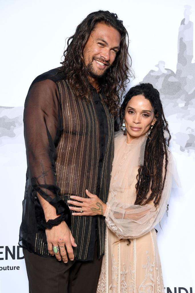"**Lisa Bonet and Jason Momoa** <br><br> In a 2019 interview with *[Esquire](https://www.esquire.com/entertainment/tv/a29329407/jason-momoa-see-apple-tv-interview-2019/|target=""_blank""