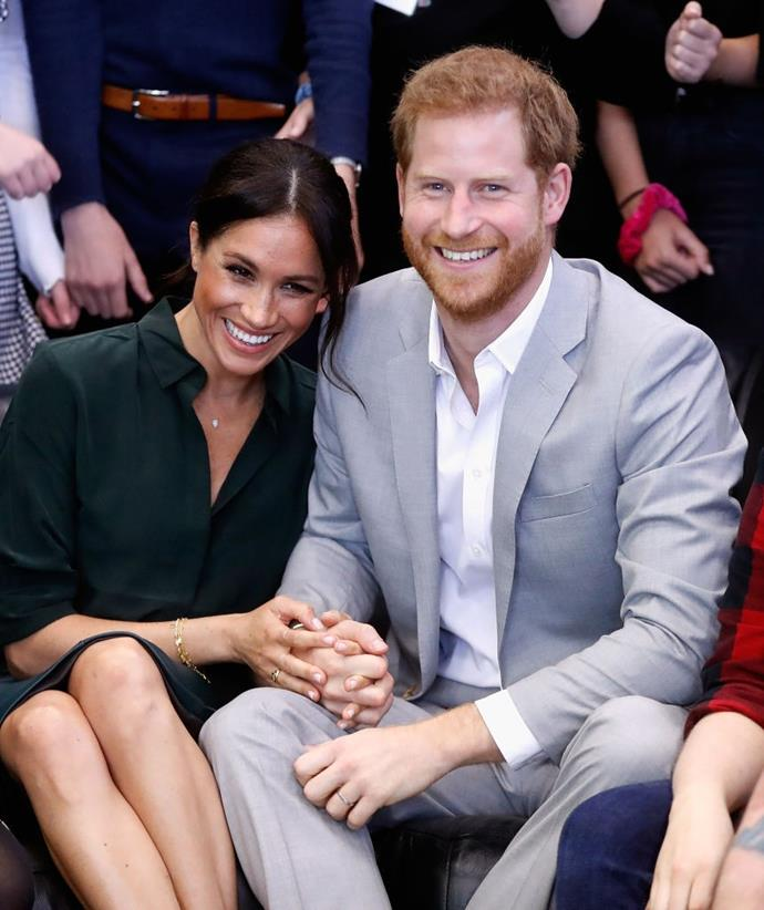 **Prince Harry and Meghan Markle, the Duchess of Sussex** <br><br> Even though we could count on one hand the amount of times Meghan and Harry have discussed the details of their relationship, British documentary *When Harry Met Meghan: A Royal Romance* claimed that Harry was crushing on Meghan during her time working on the legal drama series *Suits*.
