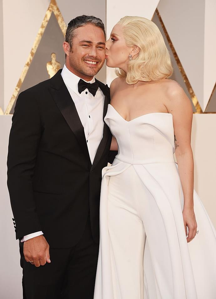 "**Lady Gaga and Taylor Kinney** <br><br> Lady Gaga met her ex-fiancé, actor Taylor Kinney, on the music video set for her 2011 song, 'Yoü and I', and the pair had an unexpected confrontation. <br><br> In 2015, Kinney told talk show host Andy Cohen that during a take, ""I kissed her and she didn't expect it. They cut, and she slapped me. And then it was awkward. And then the next take, I just did it again and then she didn't slap me"". When the shoot wrapped later on, the two ended up exchanging information."