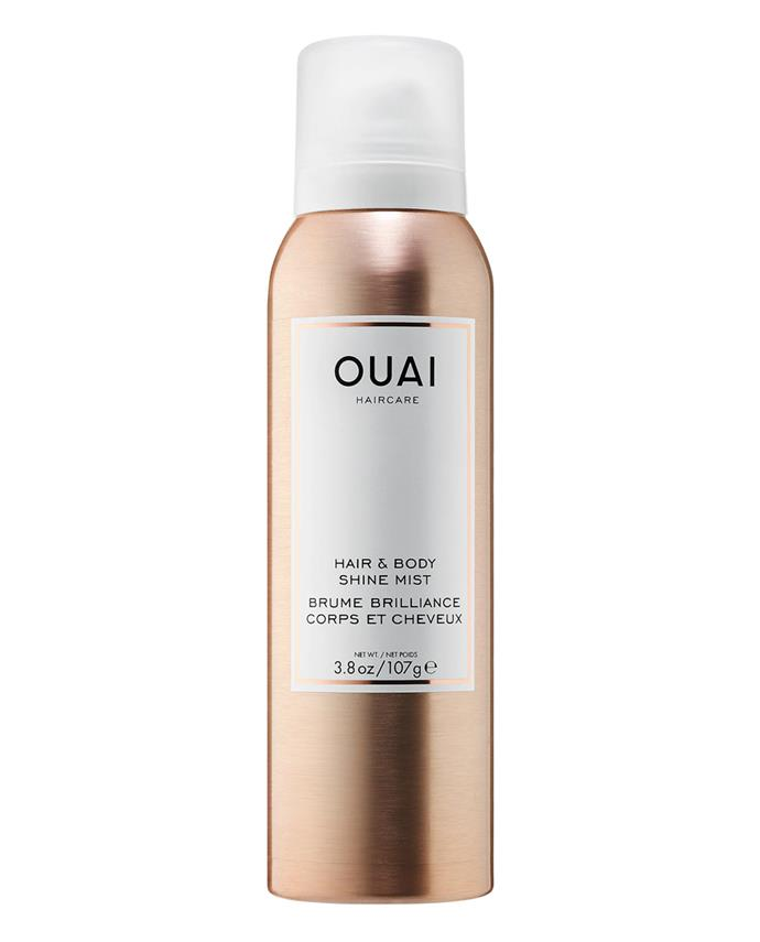 "Hair & Body Shine Mist by Ouai, $32 at [Sephora](https://www.sephora.com/product/hair-body-shine-mist-P442300?icid2=products%20grid:p442300|target=""_blank""