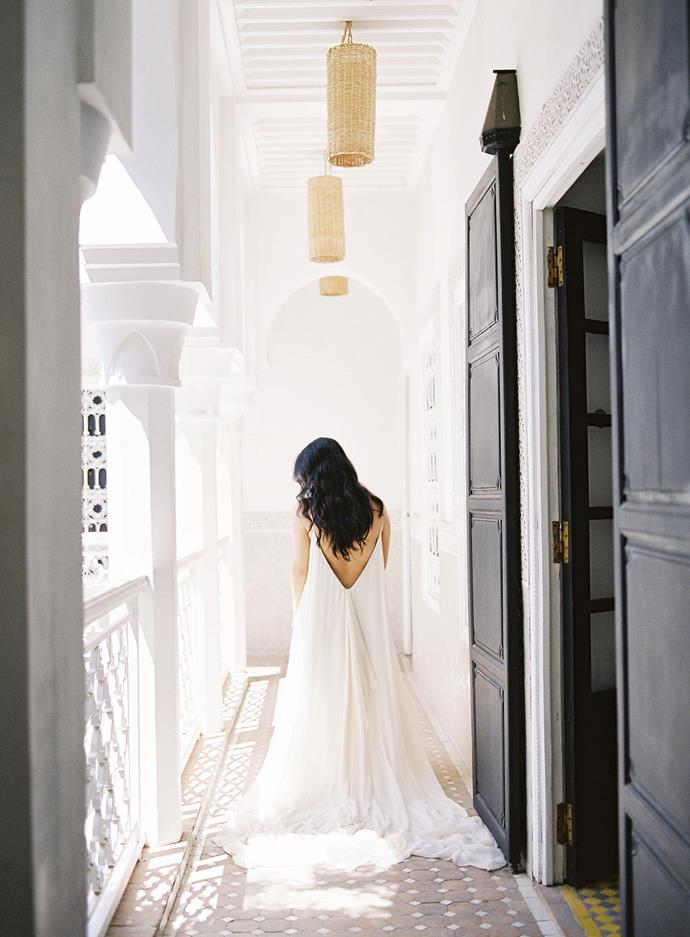 **Did you change for the reception?**<br><br>  Yes! I wasn't planning on changing, but ended up in a simple linen dress.