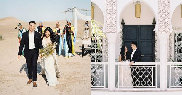 Morocco Wedding: A Laid-Back Bride's Chic Desert Ceremony   ELLE Australia