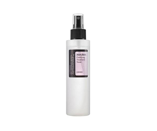 "AHA/BHA Clarifying Treatment Toner, $23, Corsrx at [Nudie Glow](https://nudieglow.com/products/cosrx-aha-bha-clarifying-treatment-toner|target=""_blank""