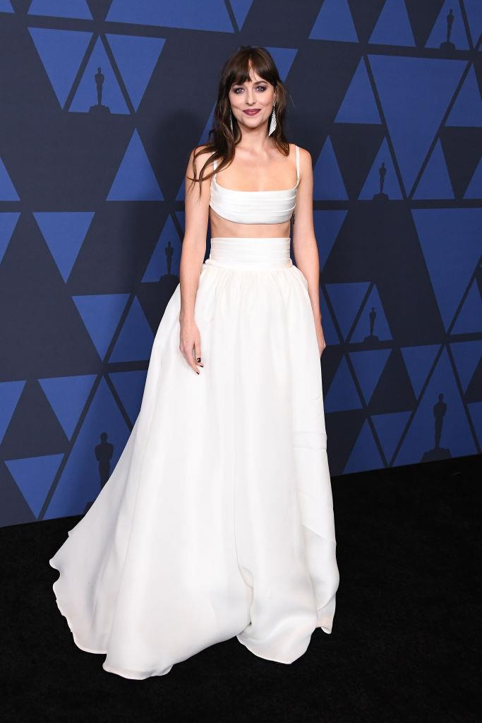 Dakota Johnson at the Governors Awards in L.A. on October 27, 2019.