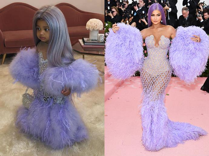 Stormi Webster as Kylie Jenner in 2019.