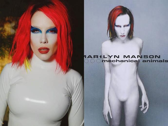 Halsey as Marilyn Manson in 2019.