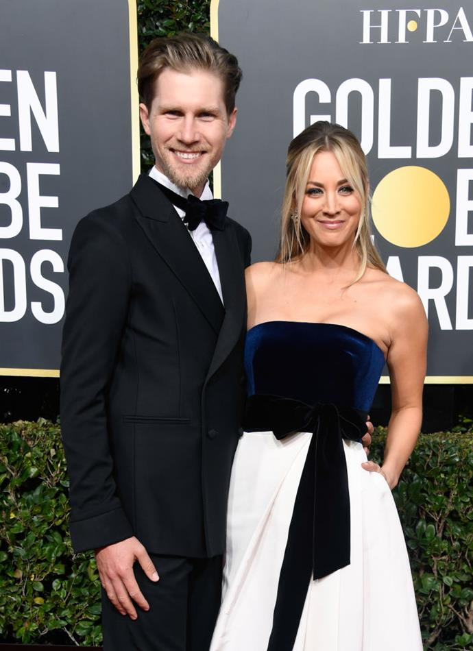 "**Kaley Cuoco and Karl Cook**<br><br>  *Big Bang Theory* star Kaley Cuoco married her renowned equestrian and [tech-heir](https://www.eonline.com/de/news/752332/kaley-cuoco-s-rumored-boyfriend-karl-cook-5-things-to-know-about-the-equestrian-hottie|target=""_blank"") husband Karl Cook in June 2018, but the couple are still yet to move in together due their respective jobs' travel demands.<br><br>  ""We're building our dream house and we're eventually going to be under the same roof forever,"" Cuoco told *E!* in August 2019 (quote via [*Us Weekly*](https://www.usmagazine.com/celebrity-news/news/kaley-cuoco-karl-cook-dont-live-together-post-wedding/
