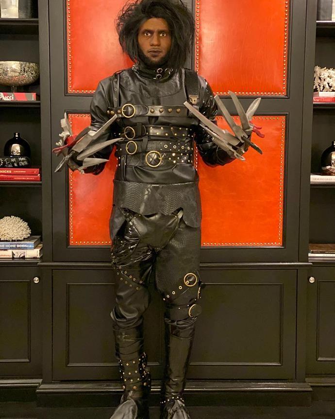 "LeBron James as 'LeDward Scissorhands' in the style of *Edward Scissorhands*.<br><br>  *Image via [@kingjames](https://www.instagram.com/p/B4Rrg78gxPz/|target=""_blank""|rel=""nofollow"")*"