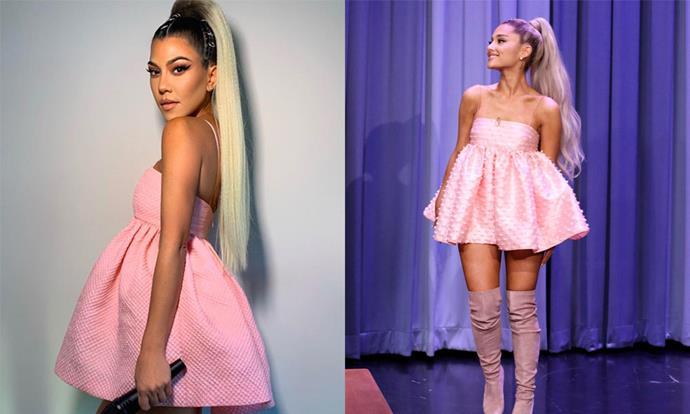 Kourtney Kardashian as Ariana Grande for Halloween 2018.