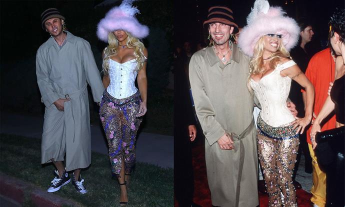 Kim Kardashian West and Jonathan Cheban as Pamela Anderson and Tommy Lee for Halloween 2018.