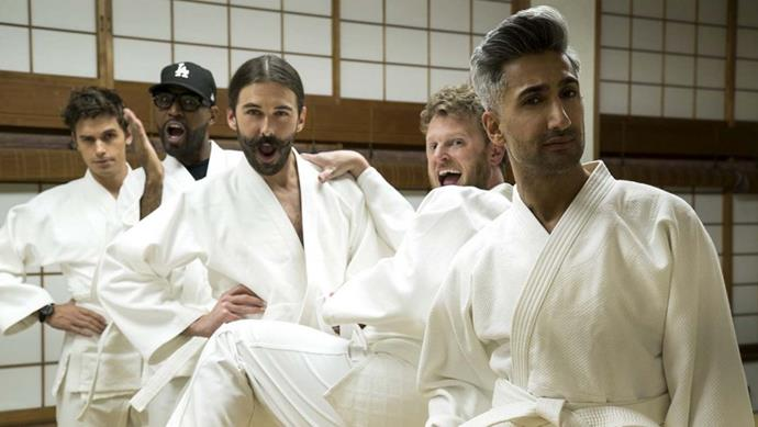 ***Queer Eye: We're in Japan!*** **(01/11/2019)**<br><br>  The Fab Five are back! Antoni, Bobby, Jonathan, Karamo and Tan take their expertise to Tokyo to make over four heroes while experiencing Japanese cuisine, fashion, design, grooming and culture firsthand.