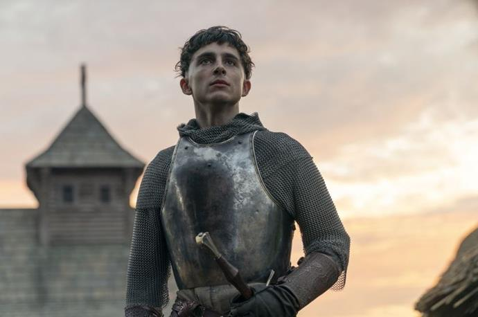 ***The King*** **(01/11/2019)**<br><br>  Hal (Timothée Chalamet), wayward prince and reluctant heir to the English throne, has turned his back on royal life and is living among the people. But when his tyrannical father dies, Hal is crowned King Henry V and is forced to embrace the life he had previously tried to escape. Now the young king must navigate the palace politics, chaos and war his father left behind, and the emotional strings of his past life.
