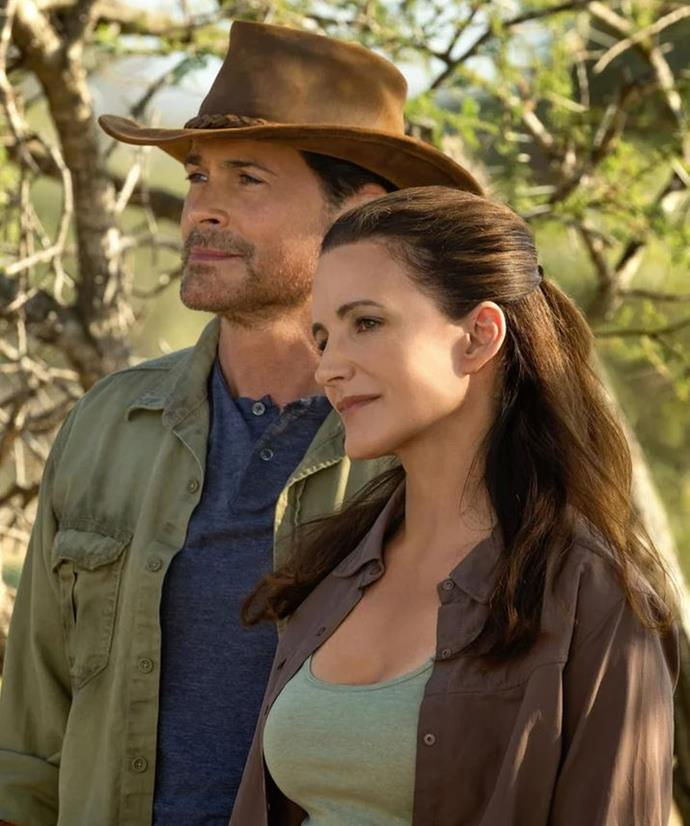 ***Holiday In The Wild*** **(01/11/2019)**<br><br>  To keep her spirits high when their son leaves for college, Manhattanite Kate Conrad (Kristin Davis) has booked a 'second honeymoon' with her husband. Instead of thanking her, he brings their relationship to a sudden end; jilted Kate proceeds to Africa for a solo safari. During a detour through Zambia, she helps her pilot, Derek Holliston (Rob Lowe), rescue an orphaned baby elephant. They nurse him back to health and Kate thrives amidst majestic animals and scenery. Her love for the new surroundings just might extend to the man who shared her journey.