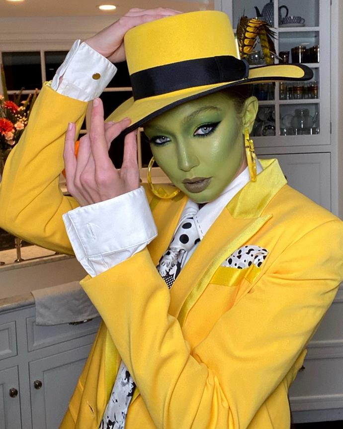 Gigi Hadid as The Mask.