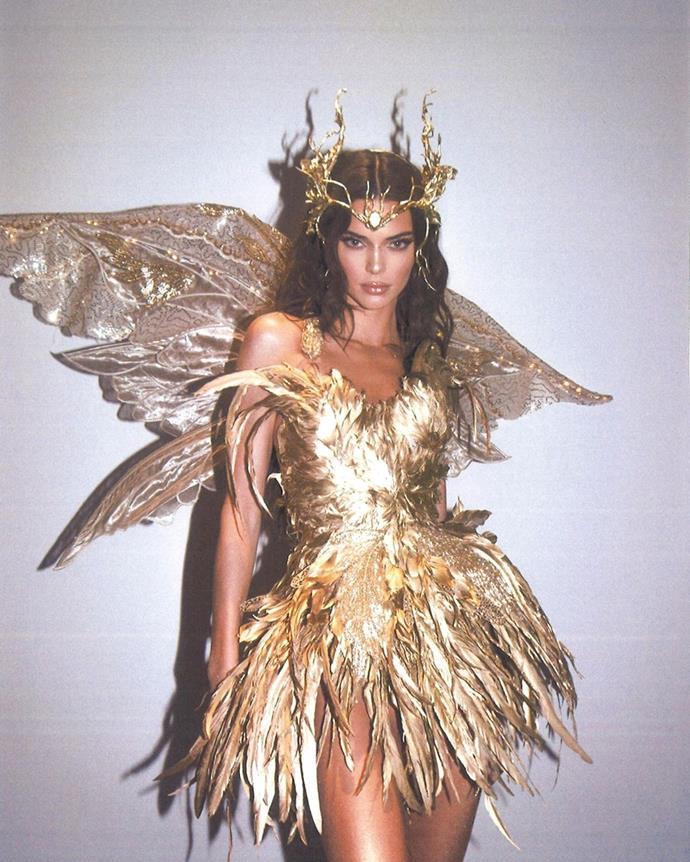 Kendall Jenner as a forest fairy.