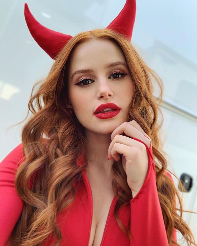 Madelaine Petsch as the devil.